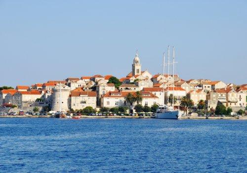 Korčula island by boat