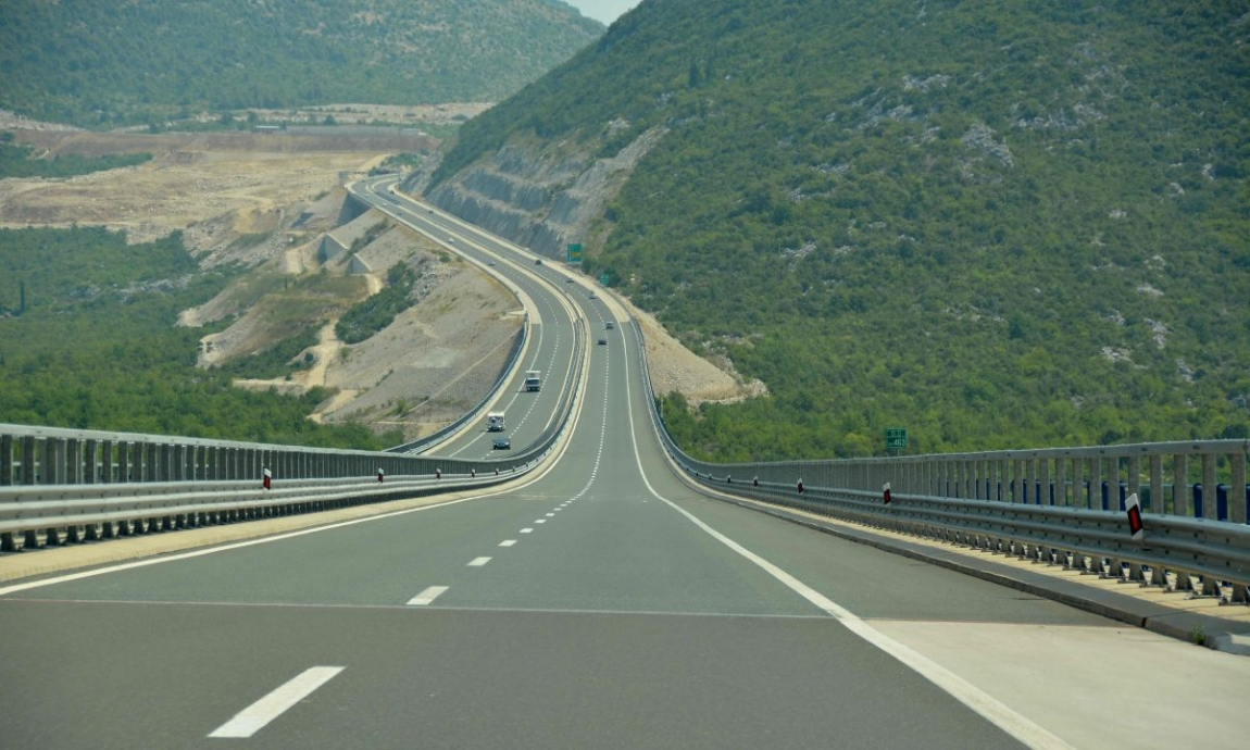 Croatia Highway towards Dubrovnik